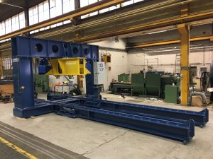 Bogie load test machine with perpendicular top beam bogie testing bogie test rig bogie test press bogie test stand