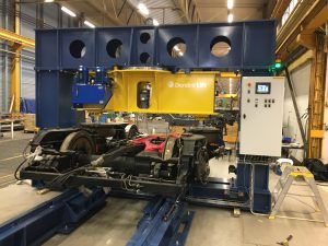 Bogie load test machine with parallel top beam bogie testing bogie test rig bogie test press bogie test stand