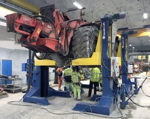 LB20G mining vehicle maintenance lift